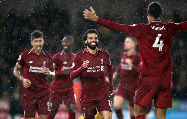 英超-萨拉赫传射铁闸建功 利物浦2-0夺7连胜领跑