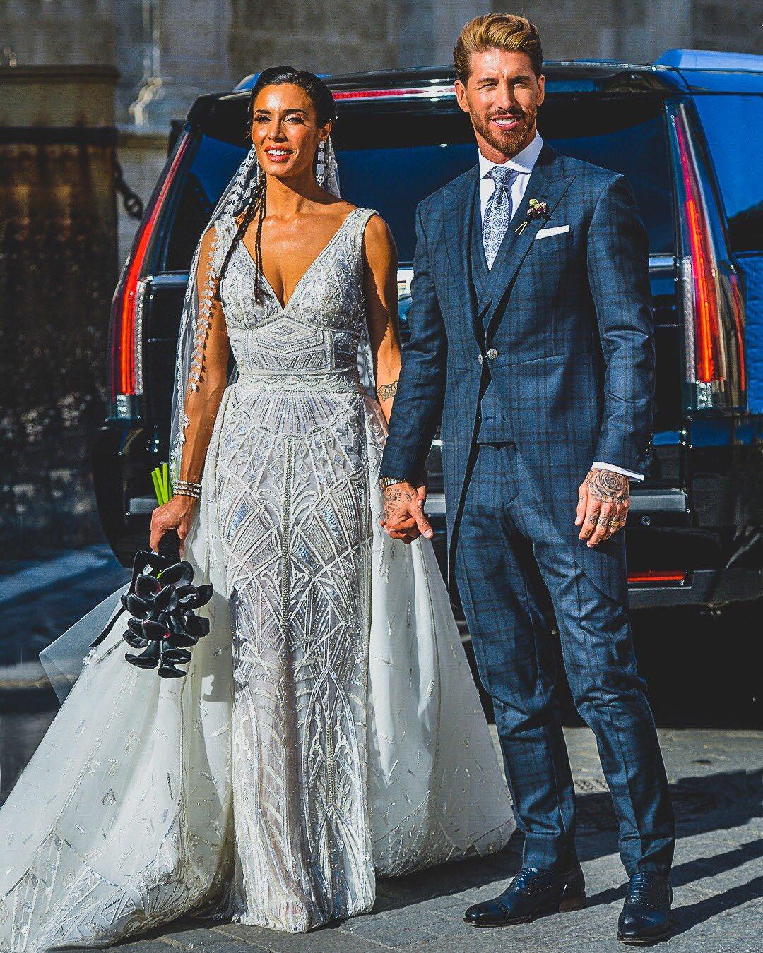 【球色怡人】拉莫斯大婚 新娘皮拉爾身材窈窕藍眸性感動人